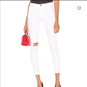 BLANKNYC Hi Rise Skinny Jean in Great White